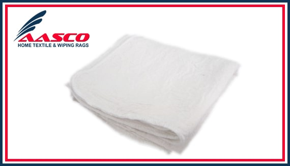 100 NEW SHOP RAGS INDUSTRIAL CLEANING TOWELS WHITE 14x14